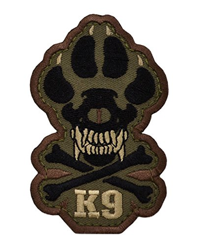 Ray Allen Skull & Crossbones K9 Patch (Forest)