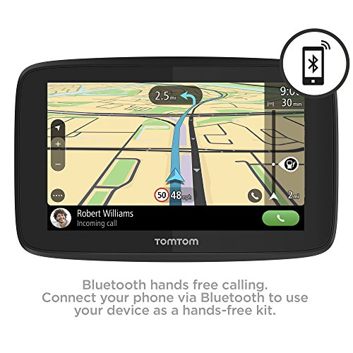 TomTom Car Sat Nav GO 520, 5 Inch with Handsfree Calling, Siri, Google Now, Updates via WiFi, Lifetime Traffic via Smartphone and World Maps, Smartphone Messages, Capacitive Screen