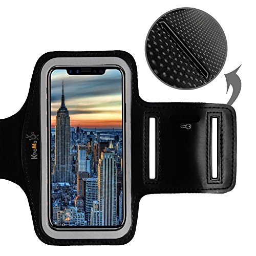 Funda Brazalete iPhone X - XS - 2017 y 2018 - 5.8' OLED - Brazalete Deportivo Antidelizante Ideal para Ejercicio, Yoga, Caminar, Running, Trekking, Bici, Gym - Para Apple iPhone X - XS