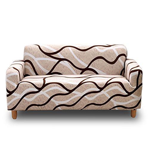 HOTNIU Cepillado Fundas De Sofá Impreso Reversible Funda para Sofá 1 Pieza Elástica Sofá Pantalla para Muebles(4 Plazas para 235-300cm,Patrón #19)