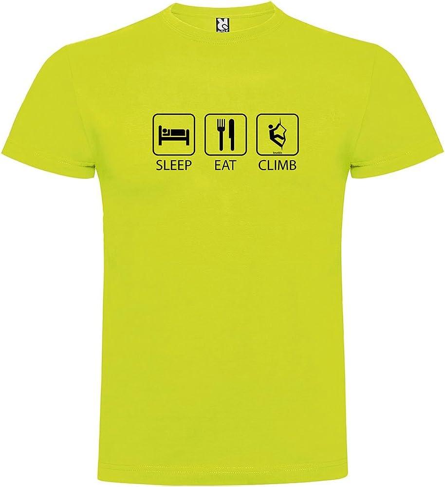 Camiseta Escalada Sleep Eat and Climb Manga Corta Hombre