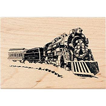 Inkadinkado Christmas Train Mounted Rubber Stamp for Card Making and Scrapbooking 1.75   x 2.5   x 1