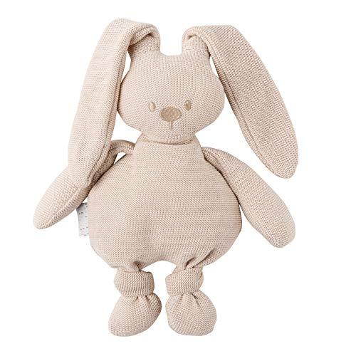 Nattou Kuscheltier Hase Lapidou, Gestrickt, Wegbegleiter ab der Geburt, 55 cm, Beige