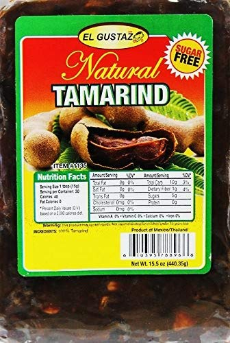Tamarind Pulp Sugar Free with Seeds 15 oz