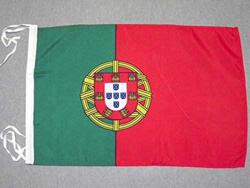 AZ FLAG Flagge Portugal 45x30cm mit Kordel - PORTUGIESISCHE Fahne 30 x 45 cm - flaggen Top Qualität