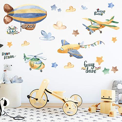HUIJK Dormitorio decorativo etiqueta engomada de papel de pared decoración de la boda de la sala de estar accesorios decoración del hogar para la cocina papel pintado quiere coche pegatinas