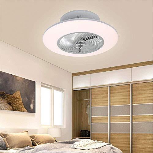 Ventilador de Techo con Luz Dormitorio Ventiladores de Techo con Altavoz Bluetooth Música, LED 96W Iluminación de Techo con Mando a Distancia App Control, Decoración de Interiores Plafón de Techo