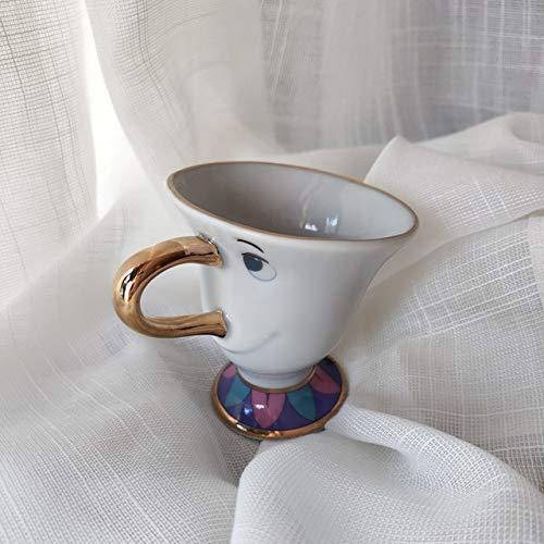 Set da tè'La Bella e la Bestia', con teiera, teiera, teiera, tazza e orologio, bollitore, regalo di compleanno e Natale 1 Cup