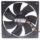 A12025-12CB-3BN-F1 DC 12V 0.16A 3wire 3pin 100mm 120X120X25mm Server Square Cooling Fan