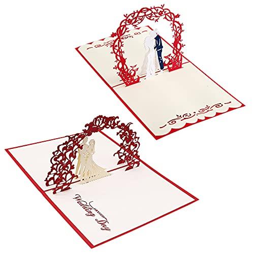 Hwtcjx tarjeta felicitacion boda, tarjetas para boda, 2 piezas Valentin Tarjetas, Invitación...