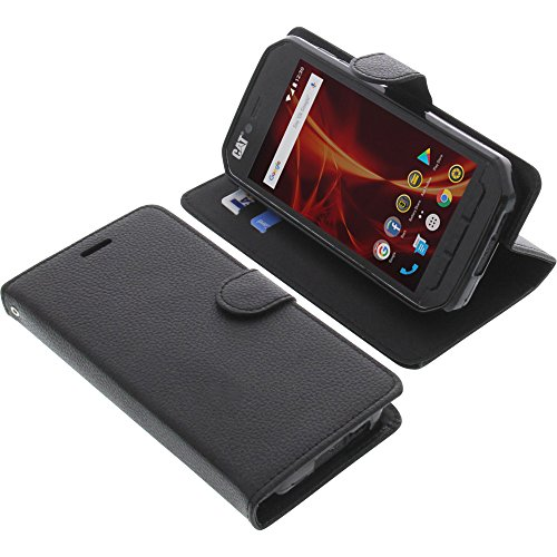 foto-kontor Tasche für CAT S41 Book Style schwarz Schutz Hülle Buch