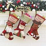 SHANGLY Vacaciones Familiares Medias de Navidad 3 Piezas Reno de muñeco de Nieve de Santa...