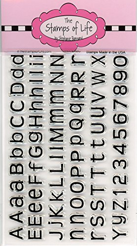 Number and Alphabet Sentiment Stamps for Card-Making and Scrapbooking Supplies by The Stamps of Life - Basic4ABC