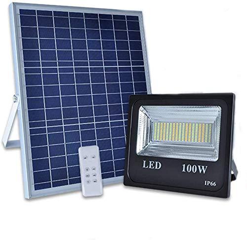 MFLASMF Luces de inundación solares LED de 100 vatios Luces solares al...