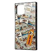 イングレム iPhone 12 iPhone 12 Pro ディズニー キャラクター 耐衝撃 ハイブリッド ケース カバー KAKU ストラップ ホール 付き スクエア 軽量 ミッキーマウス/comic IQ-DP27K3TB/MK010
