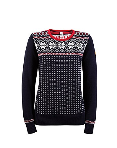 Dale of Norway - Pullover da donna Garmisch, Blu (Navy/Off White/Raspberry), S