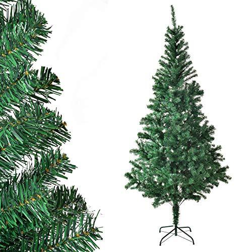 Juskys Weihnachtsbaum 180 cm künstlich mit Ständer – Tannenbaum naturgetreu - Deko Christbaum für Innen - Weihnachtsdeko grün
