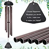 """ASTARIN Sympathy Wind Chimes Outdoor Large Deep Tone,39"""" Handmade Large Wind Chimes Outdoor Tuned Relaxing Melody, Memorial Windchime Unique Outdoor Personalized for Garden Decor, Bronze (A Free Card)"""