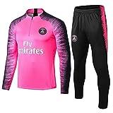 ZH~K Juego de 2 piezas de manga larga para entrenamiento de fútbol, uniforme de equipo, camisetas para hombre, color rosa, talla M: