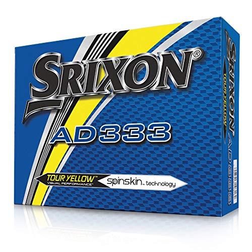 Srixon AD 333,12 Bolas de Golf, Adultos Unisex, Amarillo, Dozen