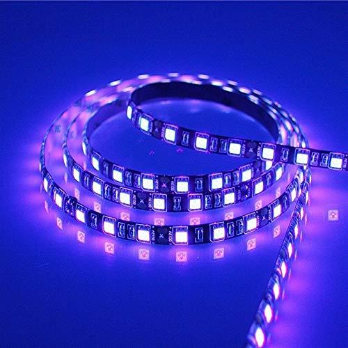H/A CAXVYK 5M SMD 2835 3528 5050 Negro y Blanco PCB UV Violeta LED Barra de luz DC 60 60LEDS / M 120LEDS / MUV Line LED Cinturón de luz CAXVYK (Color: Impermeable, Color de emisión: 3528 chip 60 led)
