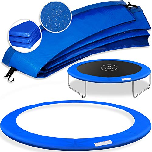 KESSER® - Trampolin Randabdeckung Ø 426 cm, 30cm breit 100% UV-beständig reißfest Federabdeckung Farbe: Blau
