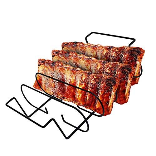 Leadrise BBQ Rib Rack for Grilling Barbecuing & Smoking in...