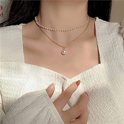 Ketten Anhänger Schmuck Elegante Simulierte Perlenketten, Die Nachgemachte Perlen-Halsketten-Halsketten-Schöne Party-Geschenk-Schmucksachen Für Frauen