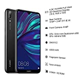 HUAWEI Y7 2019 32 GB 6.26 Inch Dewdrop FullView HD+ Display Smartphone with Dual AI Camera, Android Sim-Free Mobile Phone, 4000 mAh Large Battery, UK Version, Midnight Black
