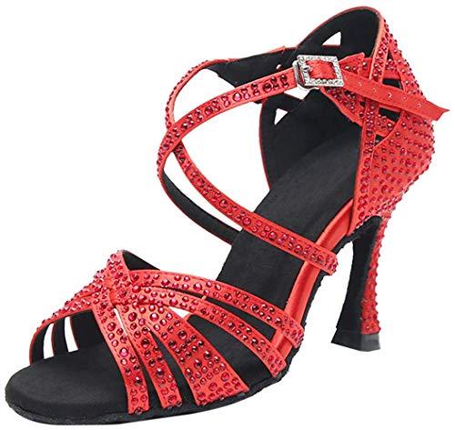 MGM-Joymod Mujeres Peep Toe Cruz Correa Rhinestones Tango Social Salón de Baile...