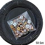 50 Set Cute Cat Head Remaches de perlas de imitación Bolsa de ropa DIY Accesorios de cuero Punk Spikes Decoración de la boda Orejas Remaches Conjunto de perlas, 50 Set Remaches de perlas