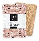 2er-Pack Spülschwämme im Set 9x13cm – aus Baumwolle in Premiumqualität – Handgearbeitet – umweltfreundliches...