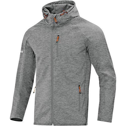 Jako Herren Softshell-Jacken Softshelljacke Light, Grau Meliert, XL, 7605