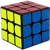 Speed Magic Puzzle Cube/ Cubo Rompecabezas Cubo 3x3x3 cubo de la velocidad cubo mágico juguete de regalo Niños Estudiante de educación profesional Smooth sólido duradero (Color: Negro) / Profesional