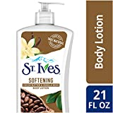 St. Ives Softening Body Lotion, Cocoa Butter and Vanilla Bean, 21 oz, Pack of 4