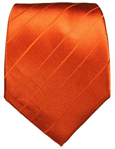 Paul Malone Cravate homme orange uni 100% soie