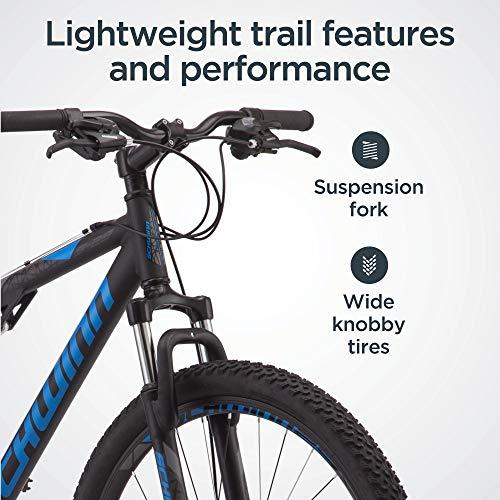 Product Image 2: Schwinn S29 Mens Mountain Bike, 29-Inch Wheels, 18-Inch/Medium Aluminum Frame, Dual-Suspension, Mechanical Disc Brakes, Matte Black