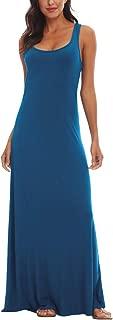 Women's Floral Print Sleeveless Tank Top Maxi Dress