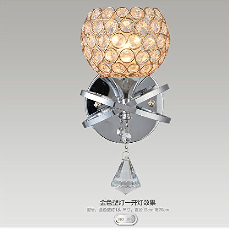Lámpara De Parojo GaoHX Creativo Estilo Dormitorio Lámpara De Parojo Interior Apliques De Parojo CorrojoorLámpara Lámpara Individual Dos Lámparas De Cristal Lámpara De Parojo
