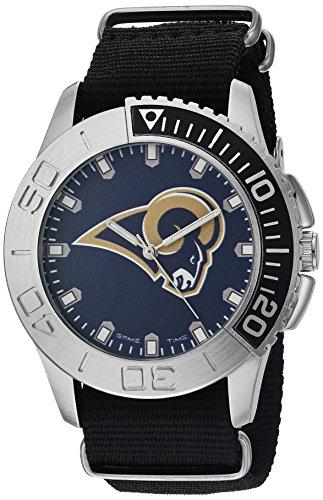 Game Time Men's 'Starter'  Metal and Nylon Quartz Analog  Watch, Color:Black (Model: NFL-STA-LA)