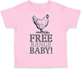 Custom Toddler T-Shirt Free Range Baby! Chicken Farm Cotton Boy & Girl Clothes