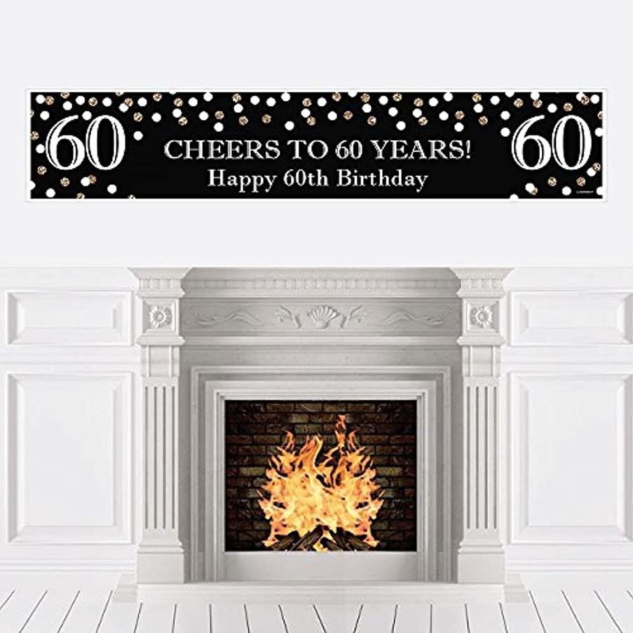 Big Dot of Happiness Adult 60th Birthday - Gold - Birthday Party Decorations Party Banner