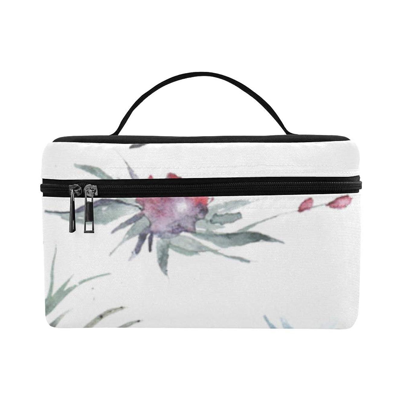 記事氏植物学KWESG メイクボックス 紫色の花 コスメ収納 化粧品収納ケース 大容量 収納ボックス 化粧品入れ 化粧バッグ 旅行用 メイクブラシバッグ 化粧箱 持ち運び便利 プロ用