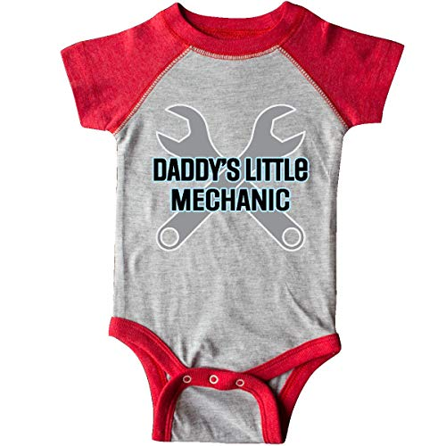 inktastic Daddys Little Mechanic Infant Creeper 12 Months Heather and Red 39cea