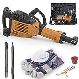 ARKSEN 3600W Electric Demolition Jack Hammer Heavy Duty Concrete Breaker Punch Bit w/Chisel + Carrying Case Hand Glove