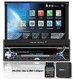 Tristan Auron BT1D7022A Autoradio + DAB+ Box und OBD 2 Adapter, Android 8.1, 7'' Touchscreen Bildschirm, GPS Navigation, Bluetooth Freisprecheinrichtung, Quad Core Prozessor, USB, SD, DAB I...