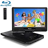"""PUMPKIN 12"""" Portable Blu Ray DVD Player with 5 Hours Rechargeable Battery Support 1080P Video, HDMI Output, Sync Screen, Region Free, Auto Resume, AUX, Dolby Audio"""