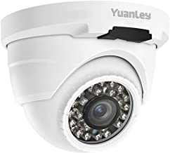 YuanLey PoE Camera 5MP Dome H.265 Outdoor/Indoor Video Surveillance Home IP Security, IR Night Vision Motion Detection 1-Way Audio