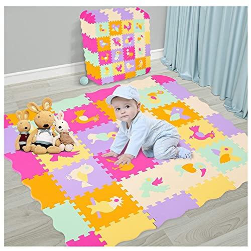 Alfombra de juego plegable para bebés, alfombra de juego para bebés Alfombrilla de juego para bebés con baldosas de espuma de enclavamiento de valla con alfombrilla para gatear Adecuado para bebés p