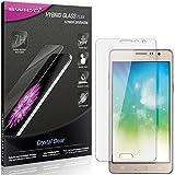 SWIDO Panzerglas Schutzfolie kompatibel mit Samsung Galaxy On5 Pro Bildschirmschutz-Folie & Glas = biegsames HYBRIDGLAS, splitterfrei, Anti-Fingerprint KLAR - HD-Clear
